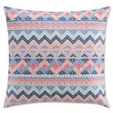 Cupcakes And Cashmere Geometric Throw Pillow in Pink/Blue