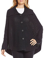 UGG Maribeth Button Front Cape Chunky Sweater