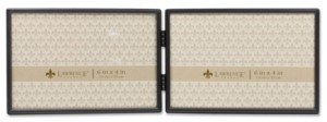 """Lawrence Frames Hinged Double Simply Black Picture Frame - 6"""" x 4"""""""