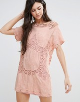 Endless Rose Short Sleeve Shift Dress