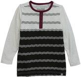 Sovereign Code White & Black Stripe Henley - Infant