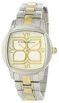 BCBGMAXAZRIA Women's BG8247 Analog Icon Silver White Dial Watch