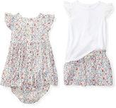 Ralph Lauren Girl Floral Tee, Short & Dress Set