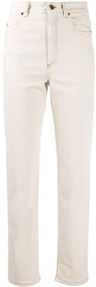 Brunello Cucinelli High Rise Straight Leg Jeans