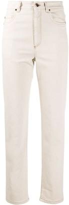 Brunello Cucinelli High Rise Straight Leg Jeans