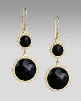 Onyx and Diamond Lollipop Earrings