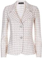 St. John Scallop Knit Sequin Blazer
