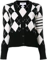 Thom Browne argyle cardigan