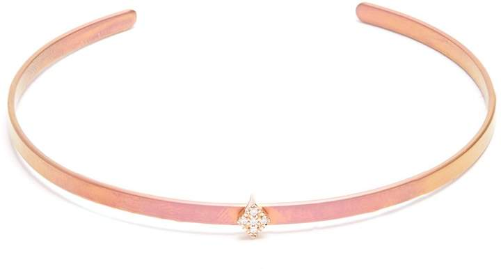 Diane Kordas Diamond, rose-gold & titanium Cosmos cuff