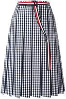 Thom Browne pleated gingham skirt