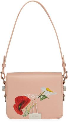 Off-White Flowers Flap Shoulder Bag
