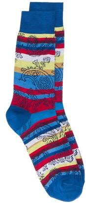 Etro Striped Paisley Socks
