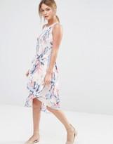 Oasis Tropical Print Smocked Top Dress