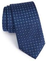 Salvatore Ferragamo Gancini & Dot Print Silk Tie