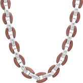 JCPenney FINE JEWELRY Mens Two-Tone Stainless Steel Necklace
