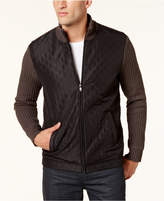 Alfani Men's Embossed Full-Zip Cardigan, Created for Macy's