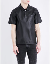 Kenzo Leather Polo Shirt
