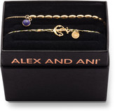Alex and Ani Braided Anchor Bracelet Gift Set, Gold