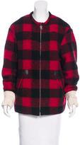 Etoile Isabel Marant Wool Blend Gingham Coat