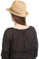 Flora Bella Florabella Raffia Hat with Bead Embellishment