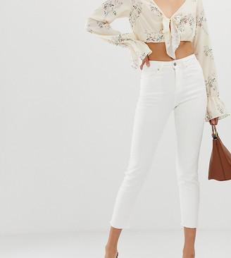 NA-KD high waist jeans in white