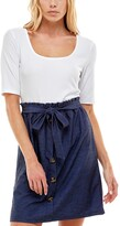 Thumbnail for your product : Ultra Flirt Juniors' Layered-Look Denim Fit & Flare Dress