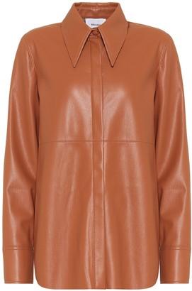 Nanushka Noelle faux-leather shirt