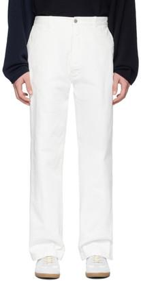 Maison Margiela White Garment-Dye Jeans