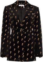 Chloé Velvet Embroidered Riding Jacket