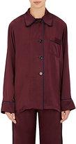 Araks Women's Kate Silk Satin Pajama Top-BURGUNDY
