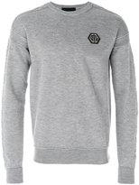 Philipp Plein ribbed logo sweatshirt - men - Merino - M