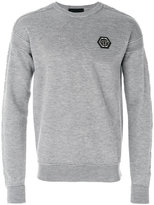 Philipp Plein ribbed logo sweatshirt