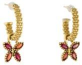Lagos 18K Orange Sapphire Beaded Hoop Earrings