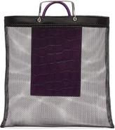 Givenchy Black & Purple Mesh Tote