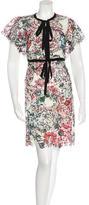 Elie Saab Short Sleece Lace Embellished Dress