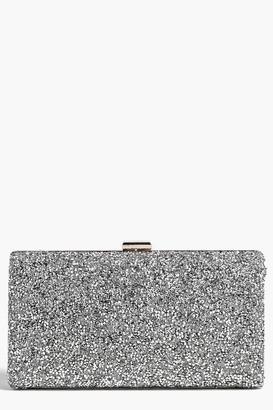 boohoo Melissa Embellished Box Clutch Bag