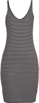 ATM Striped ribbed-jersey dress
