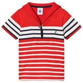 Petit Bateau Red, White and Navy Sailor Top