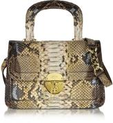Ghibli Golden Brown Python Shoulder Bag
