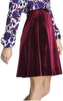 Joe Fresh Women's Velvet Skirt, Burgundy (Size M)