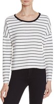 Nation Ltd. Noelle Crop Stripe Sweatshirt