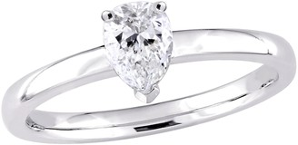 Affinity Diamond Jewelry Affinity 14K Gold 1/2 ctttw Pear-Shaped DiamondSolitaire Ring