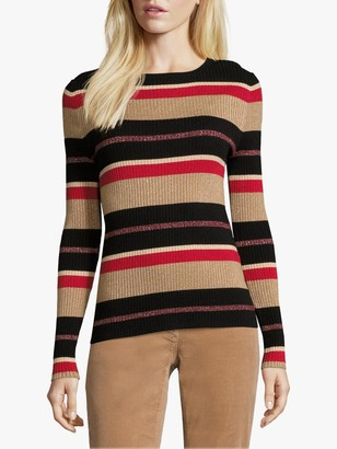 Betty Barclay Striped Jumper, Red/Camel