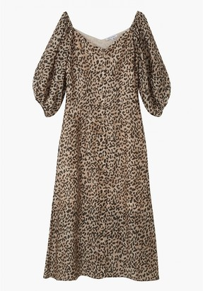 Lily & Lionel Rowan Dress in Vintage Animal - small | rayon