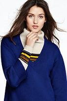 Lands' End Women's V-neck Sweater-Jet Black