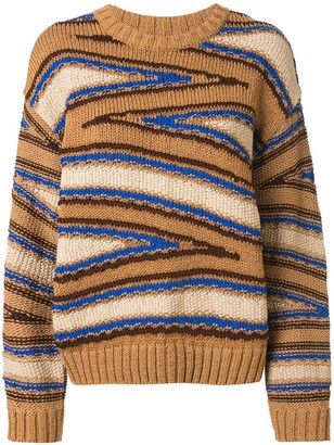 Coohem Knitted Club Stripe Jumper