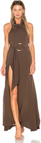 Shona Joy Zelda Funnel Neck Maxi Dress in Olive. - size Aus 10/US 6 (also in )