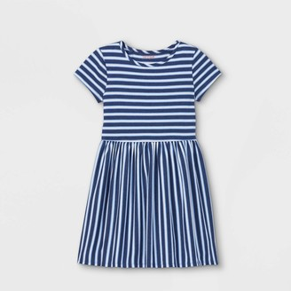 Cat & Jack Girls' Printed Knit Short Sleeve Dress - Cat & JackTM
