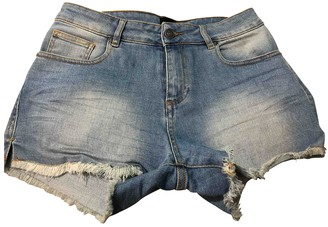 Berenice Blue Cotton - elasthane Shorts for Women