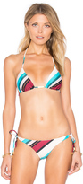 Vix Paula Hermanny Vintage Stripe Tri Bikini Top